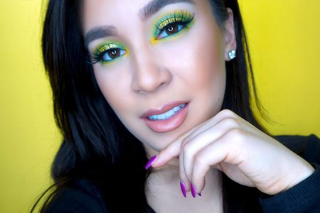 Green and Gold Glitter Halo Eye Tutorial