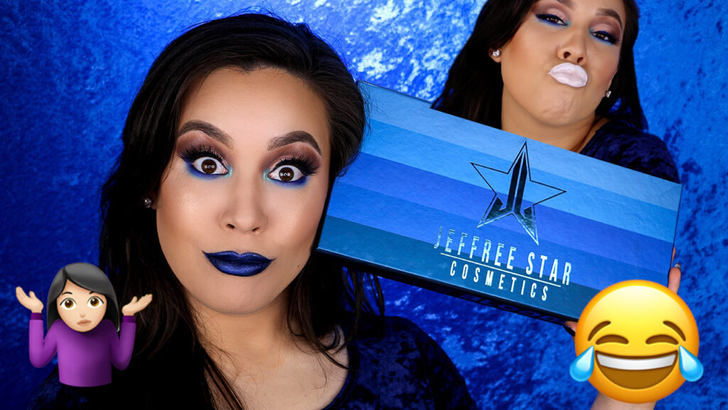 Jeffree Star Blue Blood Lipstick Swatches