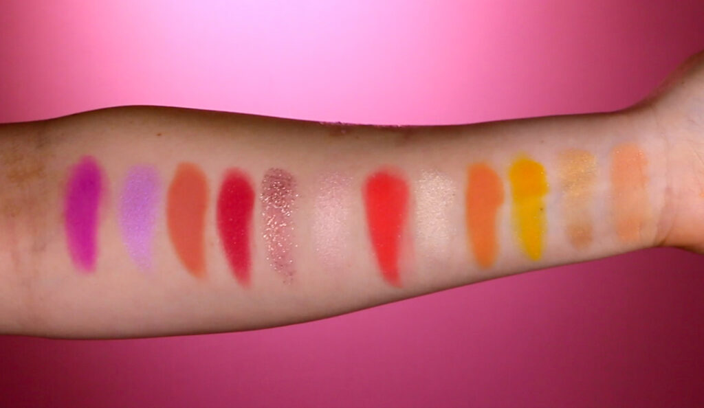 ColourPop Sailor Moon Palette Swatches