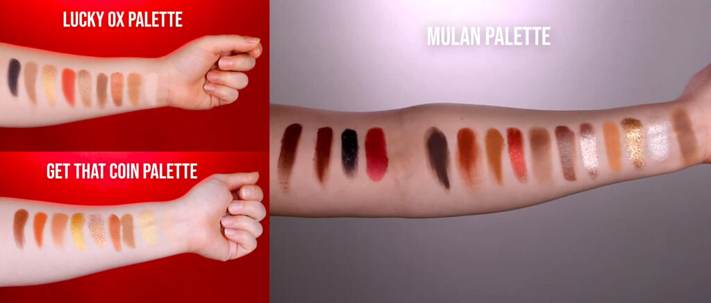 Colourpop Lunar New Year vs Mulan Palette
