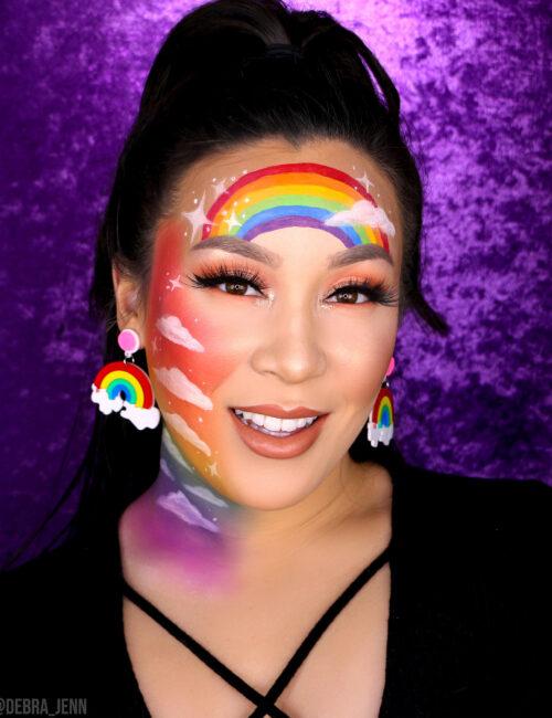 rainbow makeup looks