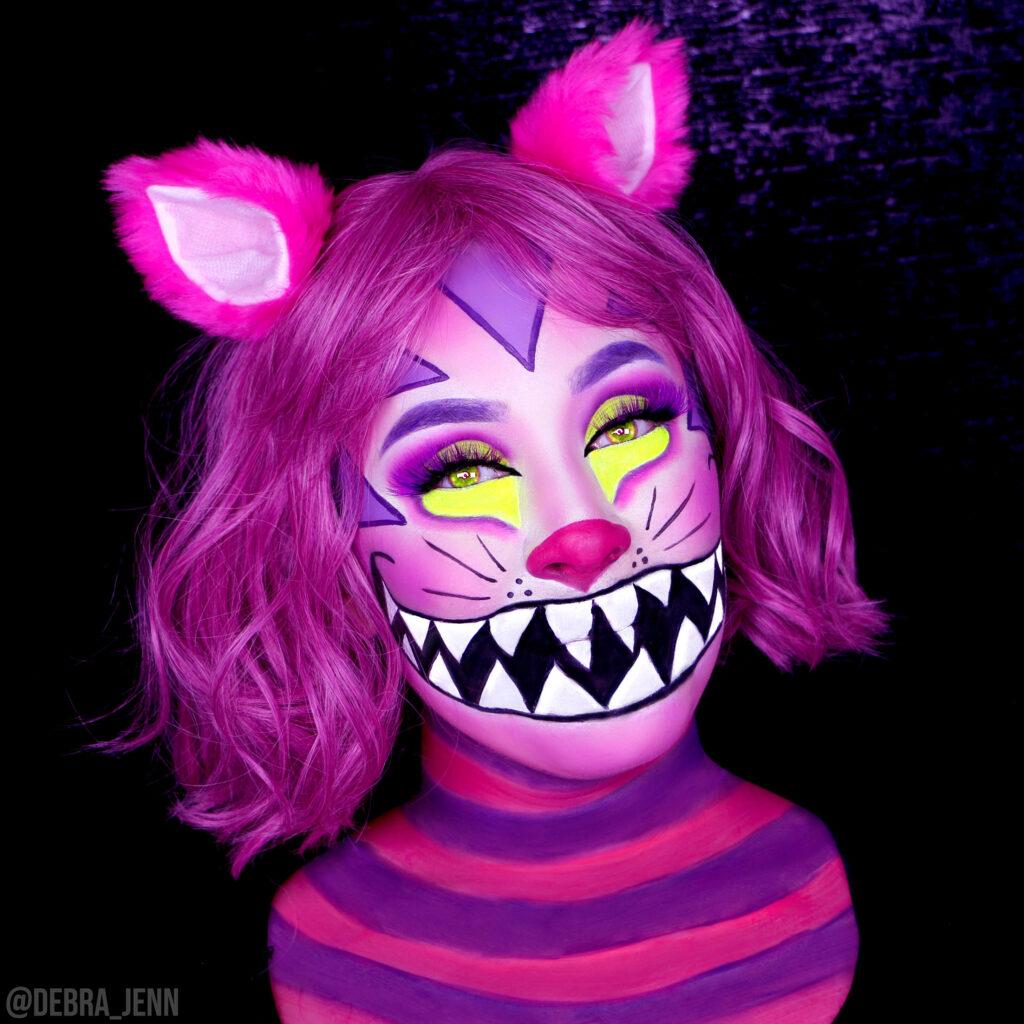 cheshire cat makeup for halloween