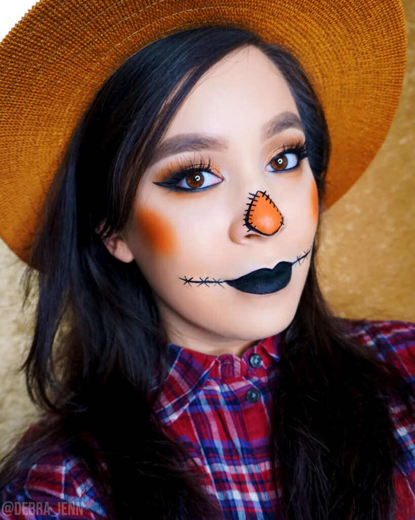 Cute DIY Scarecrow Makeup