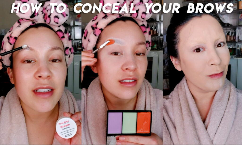 How to Cover Eyebrows for Cosplay and drag makeup