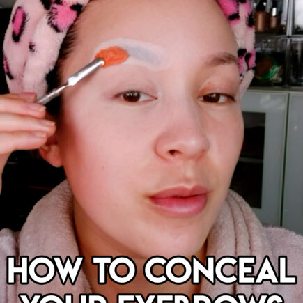how to cover eyebrows