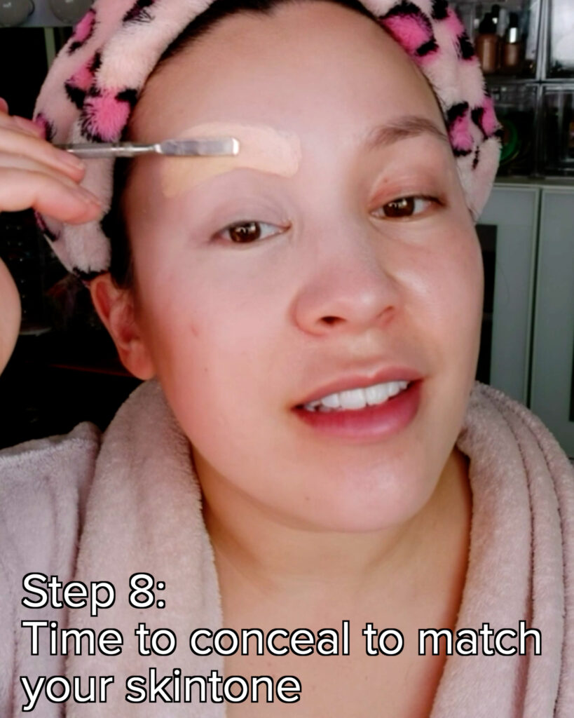 use concealer to cover brows