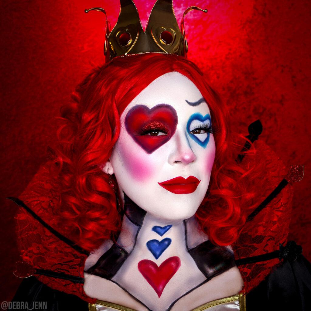 queen of hearts makeup for halloween