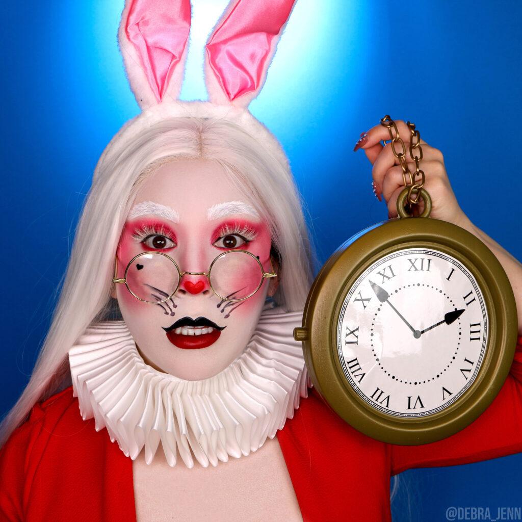 white rabbit halloween costume makeup