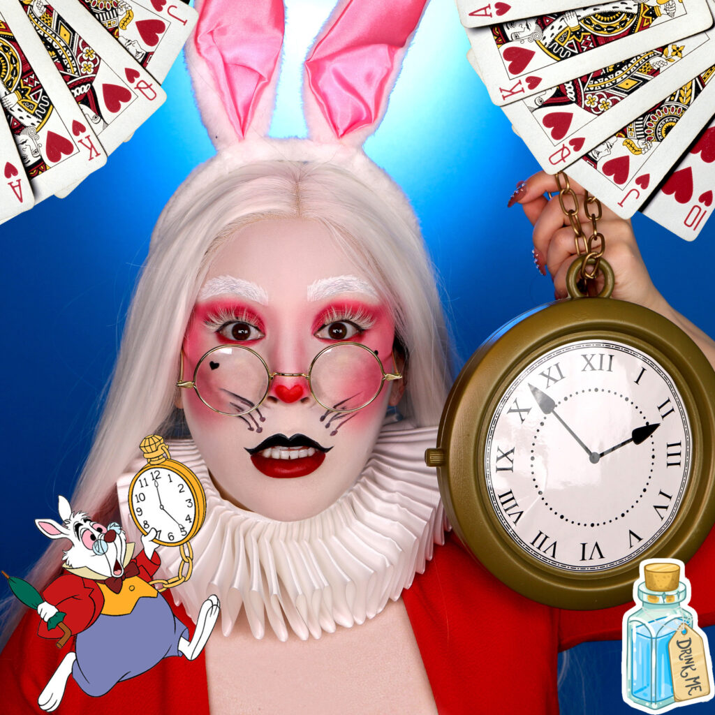 white rabbit costume makeup