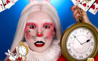White Rabbit Makeup for Halloween Costume